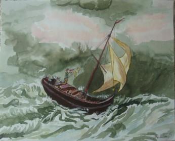 bateau tempête